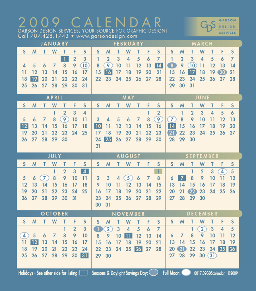 Calendar Design Services : Garson design services calendars fairfield ca solano county
